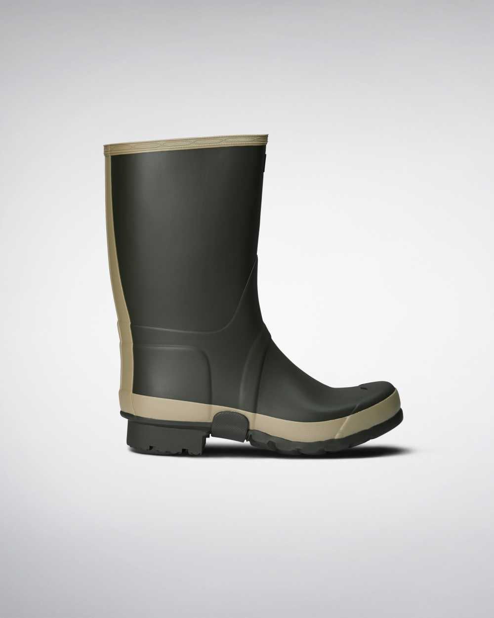 Hunter Gardener Mens Tall Wellington Rain Boots In Green Australia (KTGZ-87143)