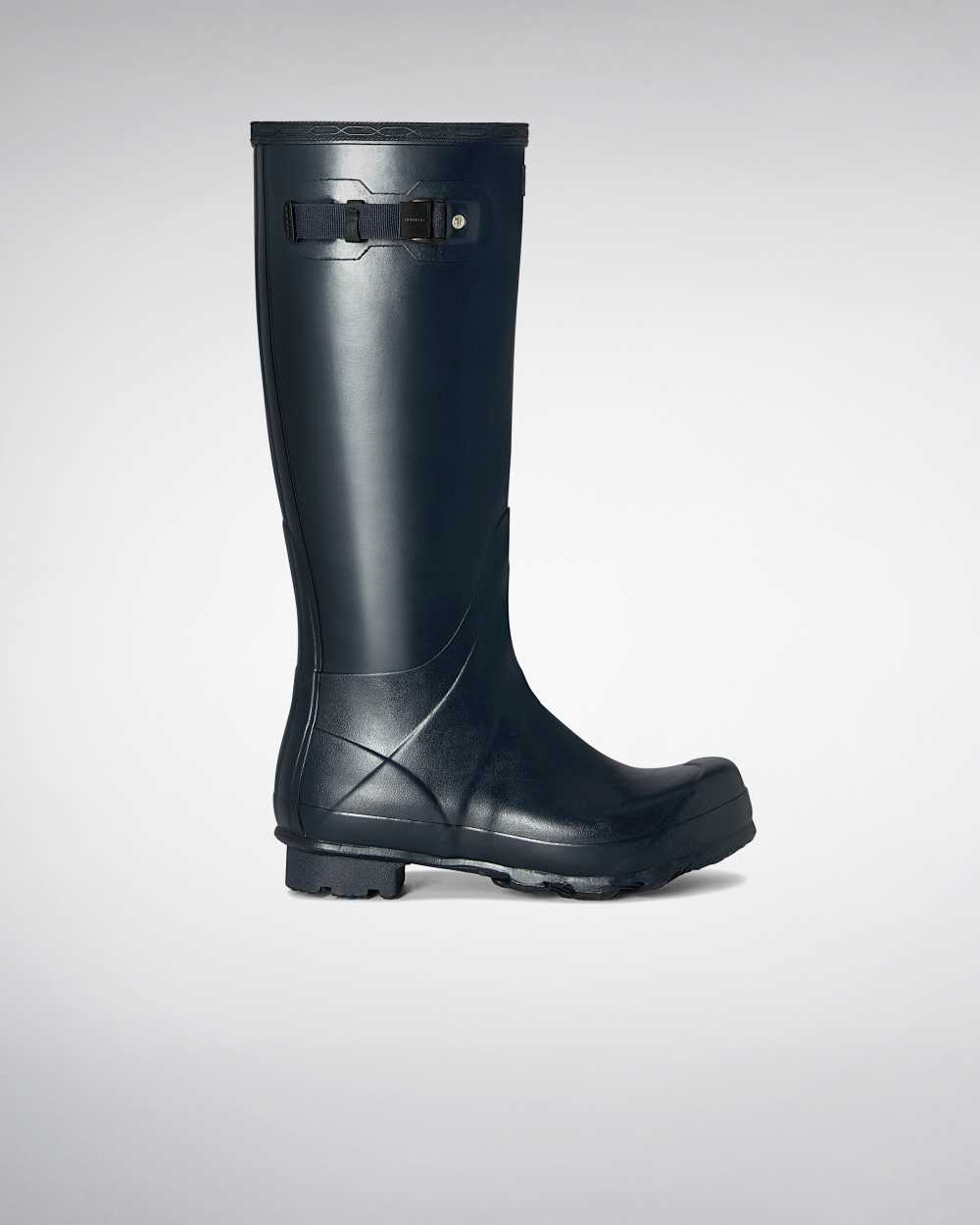 Hunter Norris Field Mens Tall Wellington Rain Boots In Navy Australia (HMCJ-15847)