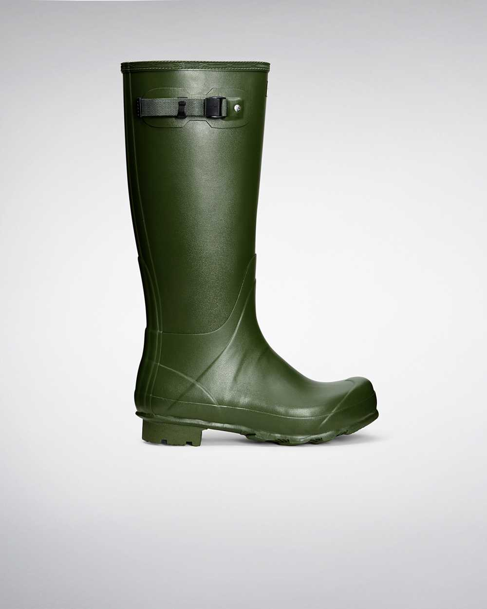 Hunter Norris Field Mens Tall Wellington Rain Boots In Green Australia (FKUR-31954)