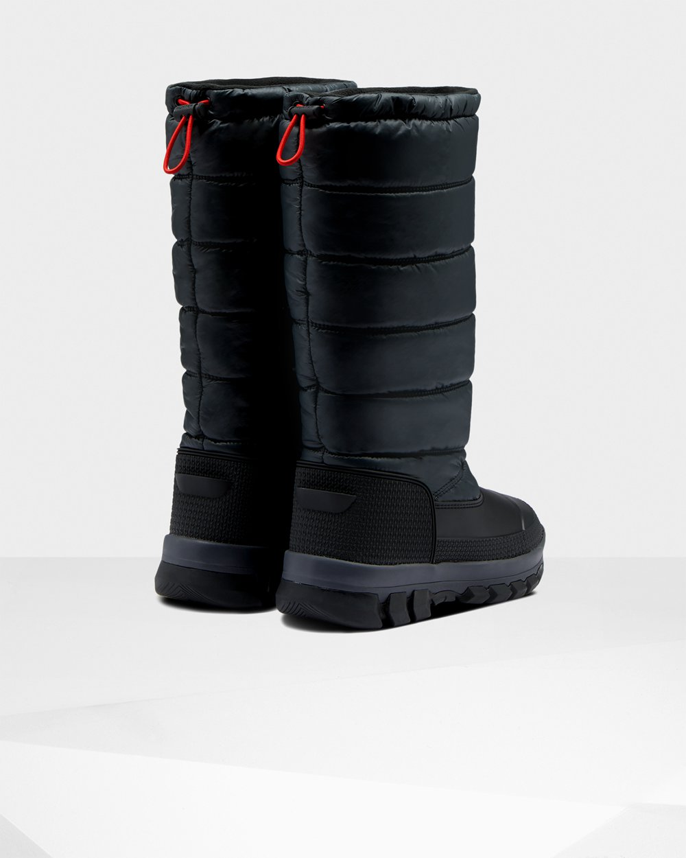 Hunter Original Insulated Tall For Women - Snow Boots Black Australia (YWA-059321)