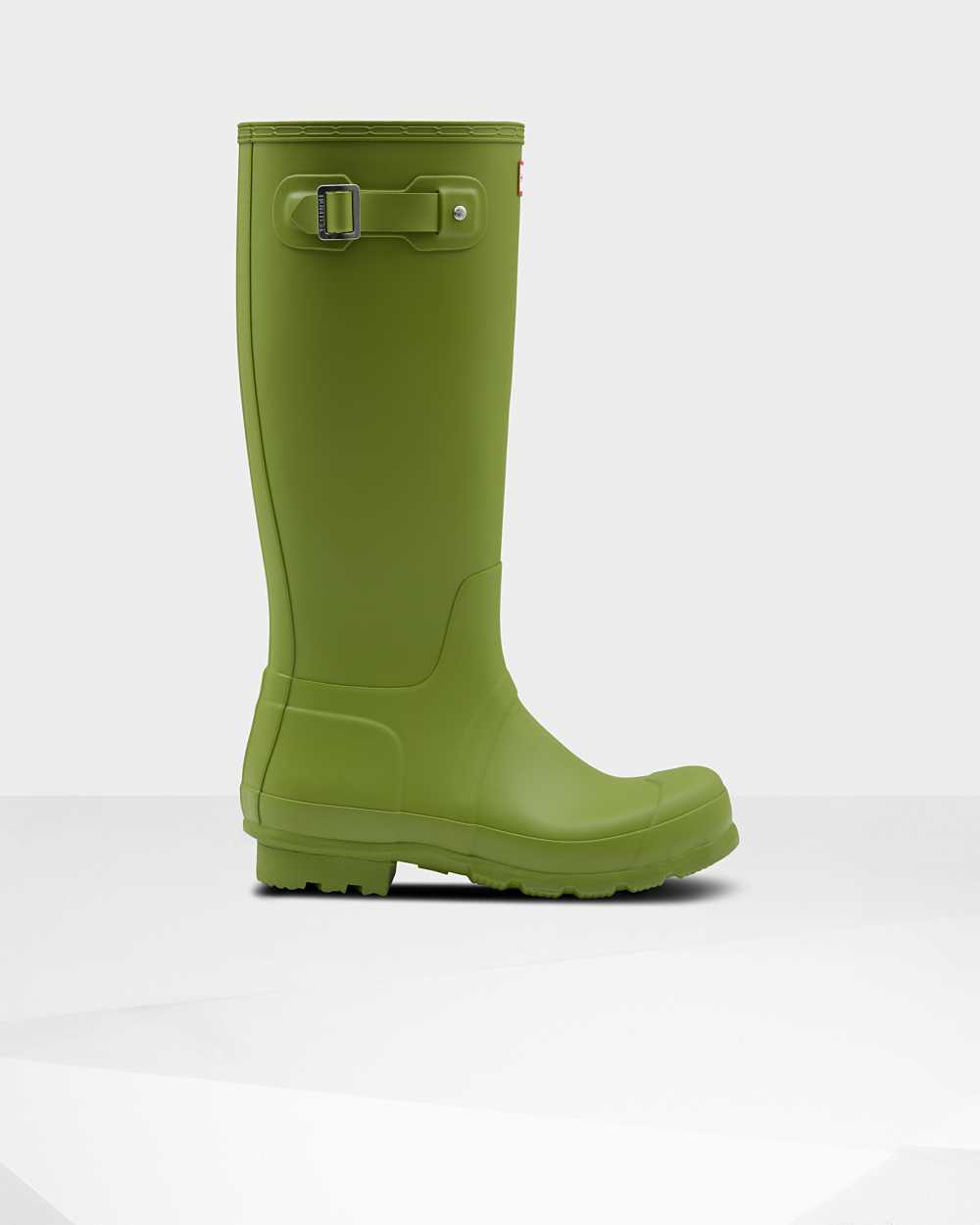 Hunter Original Mens Tall Wellington Rain Boots In Green Australia (FGHU-86324)