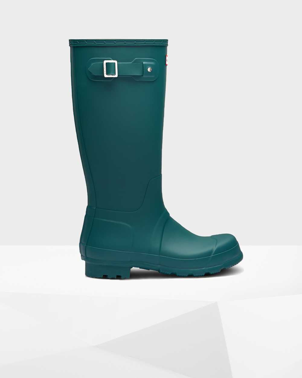 Hunter Original Mens Tall Wellington Rain Boots In Green Australia (BYJS-94306)