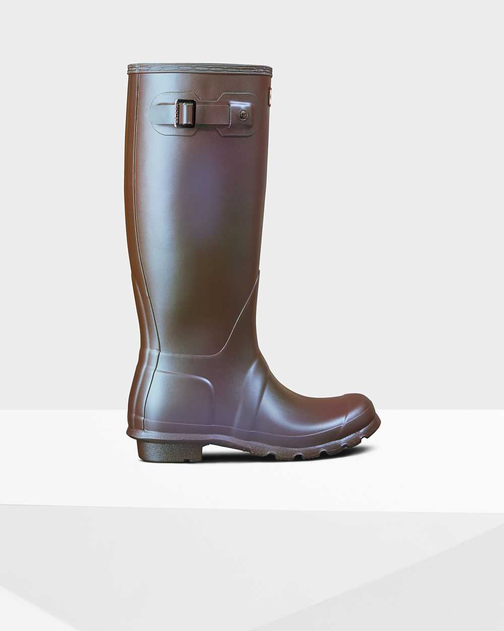 Hunter Original Nebula Womens Tall Wellington Rain Boots In Purple Australia (TGON-87513)